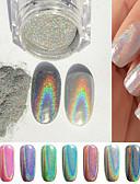 billige Jenteklær-1pc Glimmer Smuk Neglekunst Manikyr pedikyr Glitters / Chic & Moderne / trendy / Shimmering