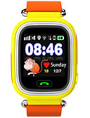 abordables Relojes Deportivo-Reloj Deportivo / Reloj de Moda / Reloj elegante Monitor de Pulso Cardiaco / Pantalla Táctil / Despertador Piel Banda Lujo / Casual Azul / Naranja / Rosa / Resistente al Agua / Podómetros