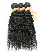 お買い得  メンズジャケット&コート-ブラジリアンヘア Kinky Curly / ウェーブ / カーリーウィーブ バージンヘア 人間の髪編む 3バンドル 人間の髪織り 人間の髪の拡張機能 / その他の特徴カーリー