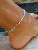 cheap Women's Dresses-Turquoise Anklet - Turquoise Cross Beaded, European, Simple Style Silver For Party / Daily / Women's