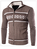 cheap Men's Sweaters & Cardigans-Men's Weekend Long Sleeves Slim Pullover - Color Block Stand