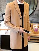 billige Herrejakker og -frakker-Mode Moderne Stil Herre Lang Helfarve Vinter Chic & Moderne Dag Koblinger Jakke Bomuld