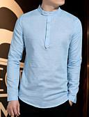 preiswerte Herren T-Shirts & Tank Tops-Herrn Solide T-shirt Formaler Stil