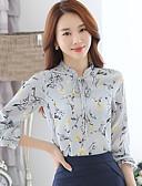 cheap Women's Blouses-Women's Street chic Shirt - Floral Print Stand