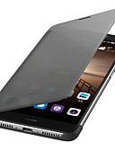 halpa Puhelimen kuoret-Etui Käyttötarkoitus Huawei Mate 9 AutomAutomaattinen auki / kiinni / Flip Suojakuori Yhtenäinen Kova PU-nahka