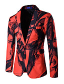 cheap Men's Blazers & Suits-Men's Simple Casual Blazer-Solid Colored,Print / Long Sleeve / Work
