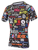 billige Løbetøj-Unisex Rund hals Løbe-T-shirt Sport T-Shirt / Toppe Kortærmet Sportstøj Hurtigtørrende, Åndbart Elastisk