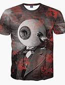 baratos Camisetas & Regatas Masculinas-Homens Camiseta - Festa Esportes Bandagem Estampado Decote Redondo