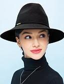 abordables Bufandas de Moda-Mujer Lana Sombrero Playero - Vintage Un Color