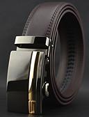 baratos Gravatas e Gravatas Borboleta-Homens Luxo Trabalho Casual Pele Liga, Cinto para a Cintura - Fashion Sólido