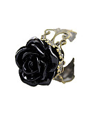 cheap Ice Skating Dresses , Pants & Jackets-Women's Resin Statement Ring - Acrylic, Resin, Alloy Roses, Flower Ladies, Open Jewelry Black For Daily Adjustable