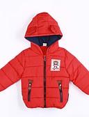 hesapli Erkek Çocuk Kıyafetleri-Genç Erkek Günlük Pamuklu Solid Kış Şişme ve Pamuk Pedli Kırmzı