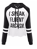 cheap Women's Hoodies & Sweatshirts-Women's Long Sleeves Hoodie - Letter, Oversized