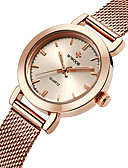 cheap Fashion Watches-WWOOR Women's Wrist Watch Water Resistant / Water Proof Stainless Steel Band Charm / Luxury / Casual Silver / Gold / Rose Gold / Sony S626 / Two Years