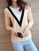 billige Rustfrit stål-Dame - Ensfarvet Bomuld T-shirt