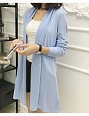 billige damesweaters-Dame Langærmet Cardigan - Ensfarvet V-hals