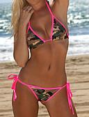preiswerte Bikinis und Bademode-Damen Blumig Halter Orange Rosa Bikinis Bademode Druck M L XL / Sexy