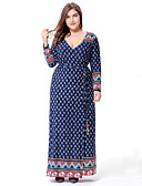 cheap Women's Dresses-sweet curve Women's Plus Size Boho Swing Dress - Paisley Print Maxi Deep V