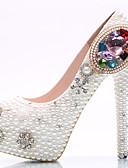 povoljno Vjenčanice-Žene Cipele PU Proljeće / Ljeto Udobne cipele / Inovativne cipele Cipele na petu Hodanje Platformske cipele / Nakit za petu Okrugli Toe