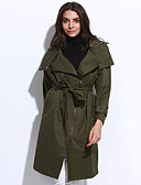 cheap Women's Coats & Trench Coats-Women's Casual Fall Winter Coat Long Sleeve