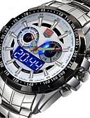 preiswerte Herrenuhren-Herrn Sportuhr / Militäruhr / Armbanduhr Kalender Legierung Band Charme / Luxus / Retro Mehrfarbig / Edelstahl / Zwei jahr / Sony SR626SW + CR2025