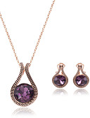 cheap Fashion Hats-Women's Synthetic Amethyst Jewelry Set - Crystal Drop Include Purple For Wedding / Party / 2pcs / Necklace