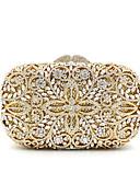 povoljno Majice za dječake-Žene Crystal / Rhinestone Metal Večernja torbica Kristalne vrećice od kristalnog kamena Cvijetni print Zlato