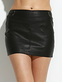 cheap Women's Skirts-Women's Club Street chic Plus Size Bodycon Skirts - Solid Colored