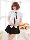 cheap Women's Nightwear-Women's Plus Size Sexy Suits Uniforms & Cheongsams Ultra Sexy Nightwear - Bow