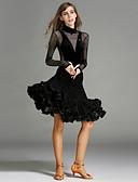 رخيصةأون قبعات نسائية-الرقص اللاتيني أزياء للمرأة أداء مخمل كشاكش / ربط كم طويل ارتفاع متوسط / قمصان الرضعثوب الراقص / الالتفاف