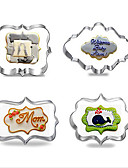 abordables Camisetas y Tops de Hombre-Herramientas para hornear Acero inoxidable Manualidades Pastel / Galleta / Tarta Molde para hornear 4pcs