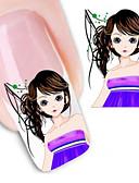 abordables Corbatas y Pajaritas para Hombre-1 Engomada del arte del clavo Adhesivos de transferencia de agua maquillaje cosmético Dise?o de manicura