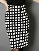cheap Women's Skirts-Women's Club Street chic Bodycon Skirts - Plaid