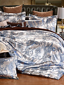abordables Biquinis y Bañadores para Mujer-Sets Funda Nórdica Floral 4 Piezas Mezcla de Seda y Algodón Jacquard Mezcla de Seda y Algodón 4 Unidades ( 1 Cobertor de Edredón, 1