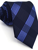 cheap Men's Ties & Bow Ties-Men's Cute Party Work Rayon Necktie - Geometric Plaid Jacquard Basic