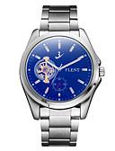 ieftine Maieu & Tricouri Bărbați-ASJ Bărbați ceas mecanic Japoneză Mecanism automat 30 m Rezistent la Șoc faza Lunii Oțel inoxidabil Bandă Analog Charm Vintage Casual Argint - Albastru
