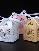 preiswerte Hochzeitskleider-Kreisförmig Quadratisch Quader Perlenpapier Geschenke Halter mit Bänder Print Geschenkboxen