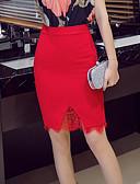 preiswerte Damen Röcke-Damen Übergrössen Ausgehen Bodycon Röcke - Solide Spitze