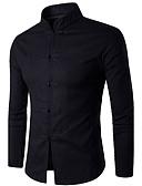 abordables Camisas de Hombre-Hombre Tejido Oriental Algodón Camisa Un Color