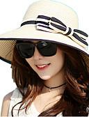 abordables Sombreros de mujer-Mujer Lazo Sombrero de Paja / Sombrero para el sol - Vacaciones / Al Aire Libre A Rayas / Primavera / Verano