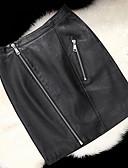 preiswerte Damen Röcke-Damen Street Schick Ausgehen Mini Bodycon Röcke - Solide