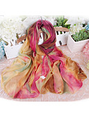 cheap Chic Chiffon Scarves-Women's Cute Party Holiday Chiffon Rectangle - Rainbow