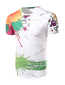 cheap Men's Tees & Tank Tops-Men's Active Cotton T-shirt Print Round Neck