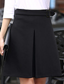 cheap Women's Skirts-Work Going out Cute Plus Size A Line Skirts - Solid Colored, Layered
