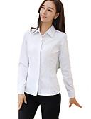 preiswerte Hemd-Damen Solide Arbeit Übergrössen Baumwolle Hemd, Hemdkragen