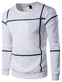 cheap Men's Tees & Tank Tops-Men's Plus Size Sports Active Long Sleeve Sweatshirt - Striped / Color Block Round Neck
