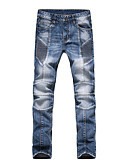 cheap Men's Pants & Shorts-Casual Cotton Straight Jeans Pants - Solid Colored