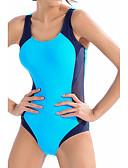 זול 2017ביקיני ובגדי ים-תחתונים קולור בלוק, לגזור - חלק אחד (שלם) כתפיה ספורטיבי בגדי ריקוד נשים