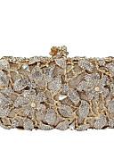 billige Kjoler til brudens mor-Dame Tasker Legering Aftentaske Imitationsperler / Krystal / Rhinsten Guld / Rhinestone Crystal Evening Bags / Rhinestone Crystal Evening Bags