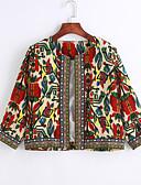 ieftine Blazere-Pentru femei Jachetă Ieșire Vintage Imprimeu